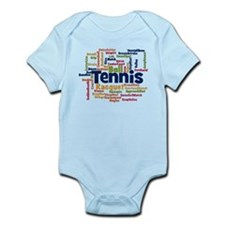 Tennis Word Cloud Body Suit