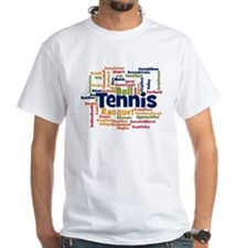 Tennis Word Cloud T-Shirt