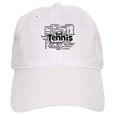 Tennis Word Cloud Baseball Baseball Cap