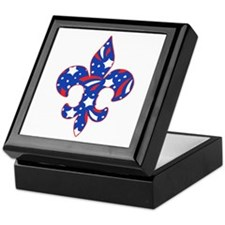 "Fleur de lis ""Red, White & Blue"" Keepsake Box"