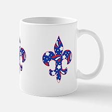 """Fleur de lis """"Red, White & Blue"""" Mug"""