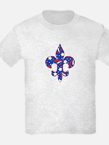 "Fleur de lis ""Red, White & Blue"" T-Shirt"