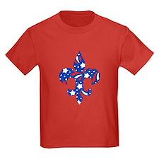 """Fleur de lis """"Red, White & Blue"""" T"""