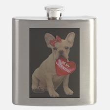 french bulldog valentine Flask