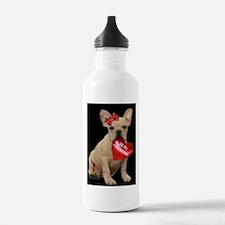 french bulldog valentine Water Bottle