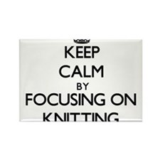 Keep Calm by focusing on Knitting Magnets