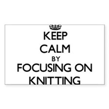 Keep Calm by focusing on Knitting Decal