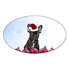 Christmas French Bulldog Decal