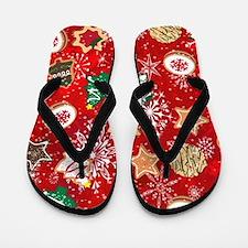 Christmas Cookies Flip Flops