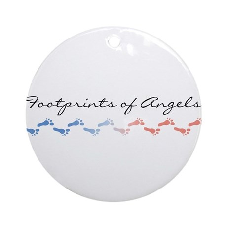 Footprints of Angels Ornament (Round)
