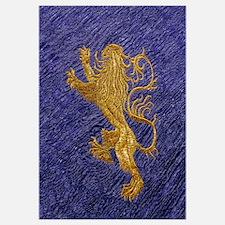 Rampant Lion - Gold On Blue Wall Art