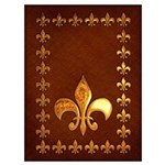 Old Leather With Gold Fleur-De-Lys Wall Art