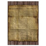 Declaration of independence Wrapped Canvas Art