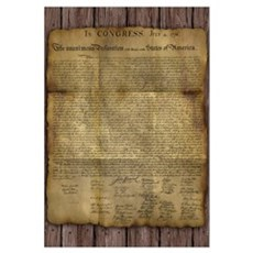 The Declaration Of Independence Wall Art Canvas Art