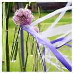 Lavender Flower Ball With Streaming Wall Art