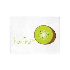 Cut Kiwi Fruit 5'x7'Area Rug