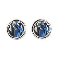 Escondido Stray Cats Round Cufflinks