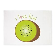 I Love Kiwi 5'x7'Area Rug