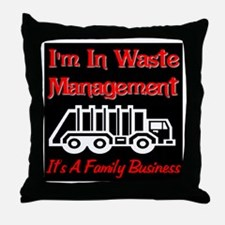 I'm In Waste Management Throw Pillow