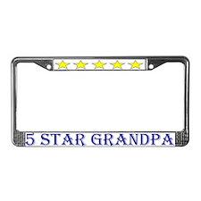 5 Star Grandpa License Plate Fr. Combo 2