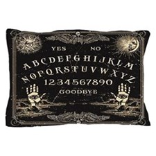 Black Vintage Spirit Talking Board Pillow Case