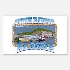 DUTCH HARBOR ALASKA Rectangle Decal