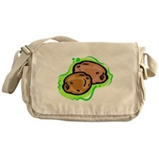 potatoe on bold green background Messenger Bag