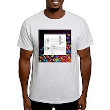 Music Theory Bass And Treble Clef Chart T-Shirt