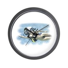 Naked Scuba Diver Wall Clock (female)