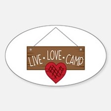 Live Love Camping Decal