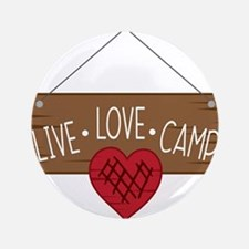 """Live Love Camping 3.5"""" Button"""