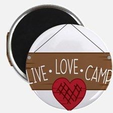 Live Love Camping Magnets