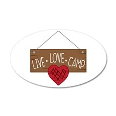 Live Love Camping Wall Decal