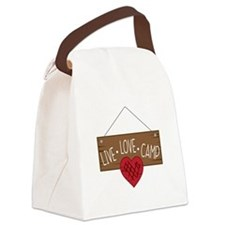 Live Love Camping Canvas Lunch Bag