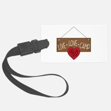 Live Love Camping Luggage Tag