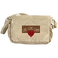 Live Love Camping Messenger Bag