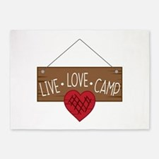 Live Love Camping 5'x7'Area Rug