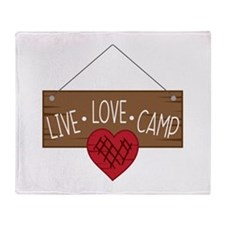 Live Love Camping Throw Blanket