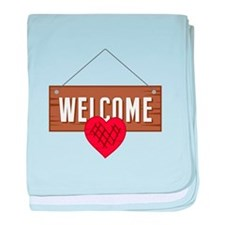 Welcome Board baby blanket