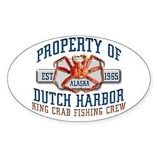 DUTCH HARBOR CRABBING Oval Decal