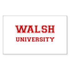 WALSH UNIVERSITY Rectangle Bumper Stickers
