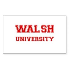 WALSH UNIVERSITY Rectangle Decal