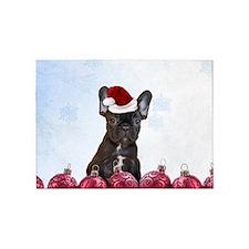 Christmas French Bulldog 5'x7'Area Rug