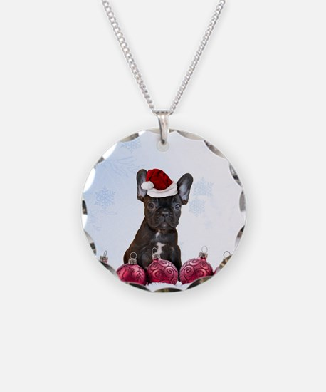Christmas French Bulldog Necklace