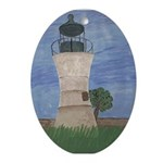 UNO Lighthouse Oval Ornament