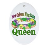 King Cake Oval Ornament