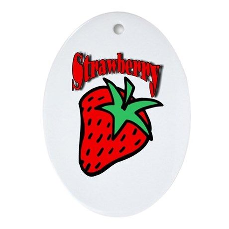 Strawberry Oval Ornament