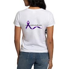 Short Girls Purple Ribbon Tee