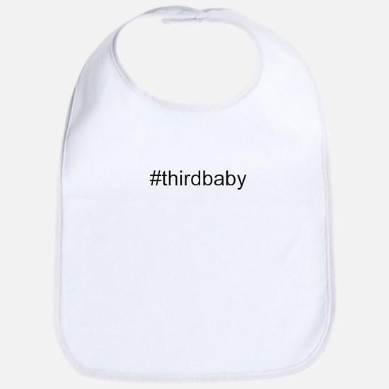 Hastag Third baby Bib