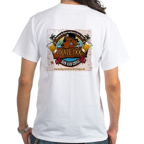 Pirate Dog Bar & Grill White T-Shirt
